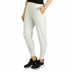 🔥 Tapered Oatmeal Gray White Pants XXL New Cozy